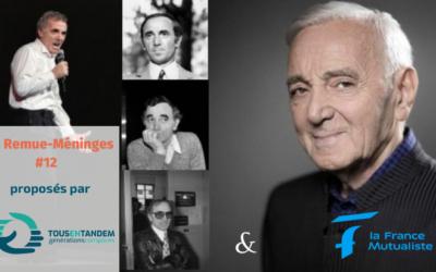 Aznavour, un des chanteurs préférés des français avec Emmenez-moi …